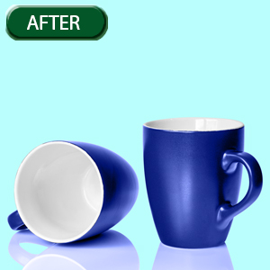 coffee mugs color correction