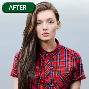 girl model shirt color correction