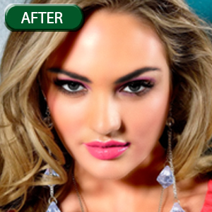 glamour retouching with digital makeup